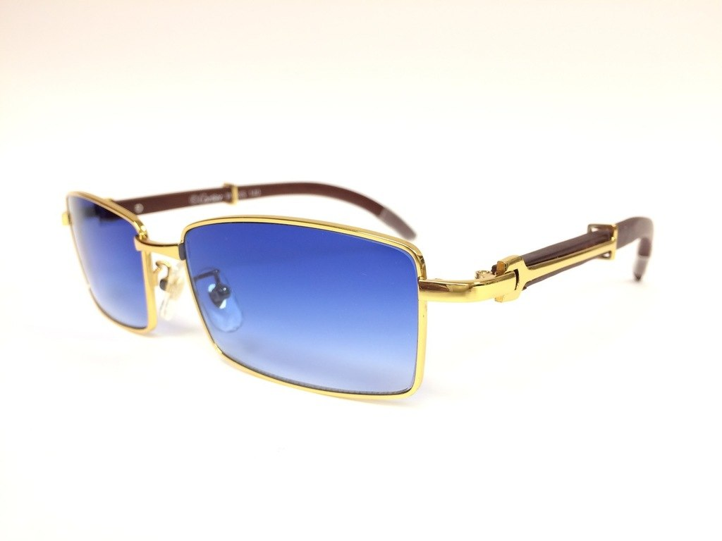 5f581a249413 Gold Bubinga Wood Sunglasses