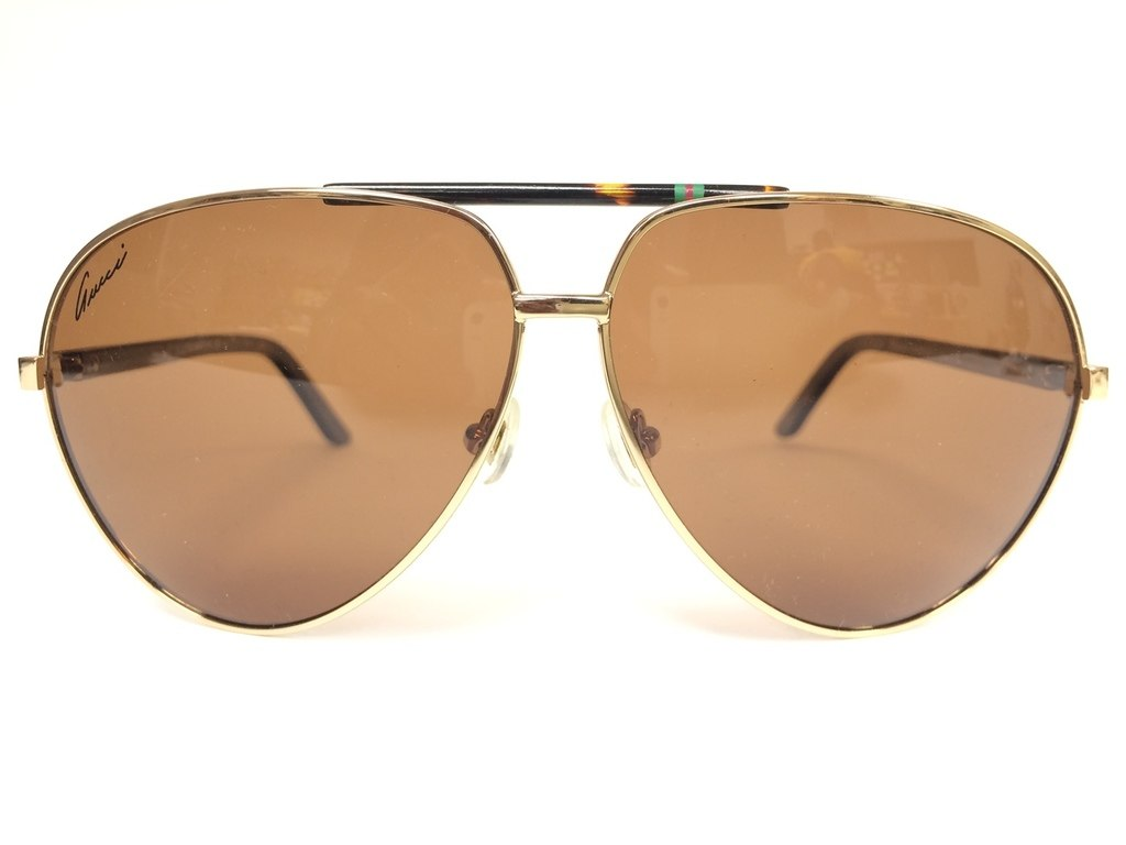 aea99a20e9c92 Gucci 1933 s Gold Aviator Sunglasses