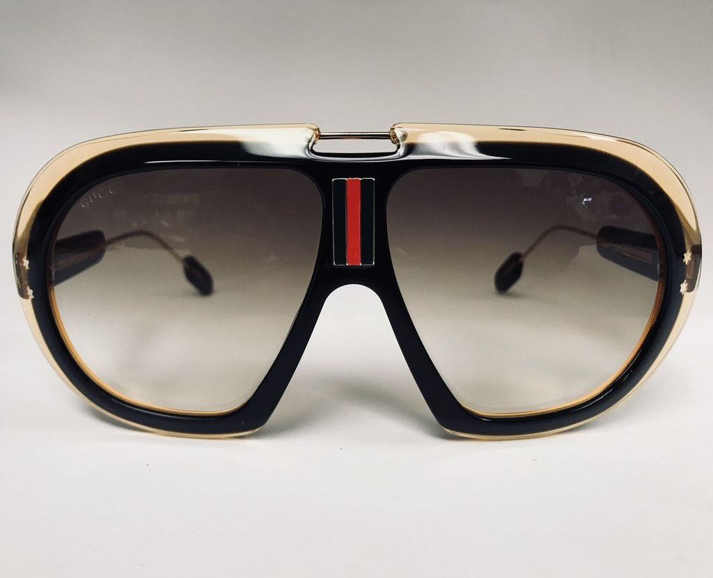 7b34ffbdd644 Brown Gucci Acetate Sunglasses