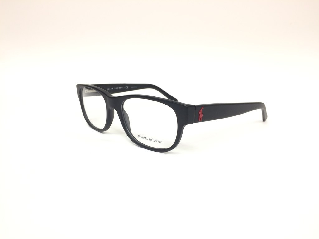 dc423f424b63 Polo Ralph Lauren Black   Red Prescription Optical Frame