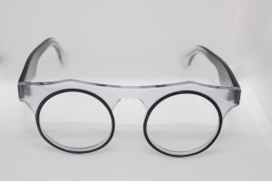 Rare Round Clear/Black optical