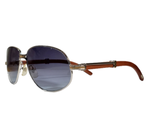 Cartier Vintage 566 Wood Sunglasses