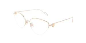 Cartier Gold Semi Rimless Eyeglasses
