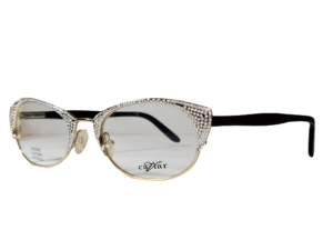 Caviar M2357 Silver Cat Eye Eyeglasses