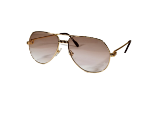 Gold Titanium Aviator Sunglasses