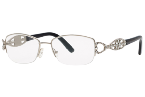 Caviar M2348 | Adorable Silver Rimless Eyeglasses With Swarovski Crystals