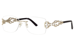 Caviar M2367 | Magnificent Rimless Eyeglasses With Swarovski Crystals