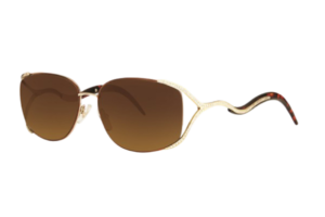 Caviar M2619 Semi Rimless Sunglasses