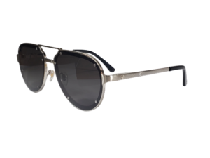 60MM Titanium Aviator Gray Lens Sunglasses