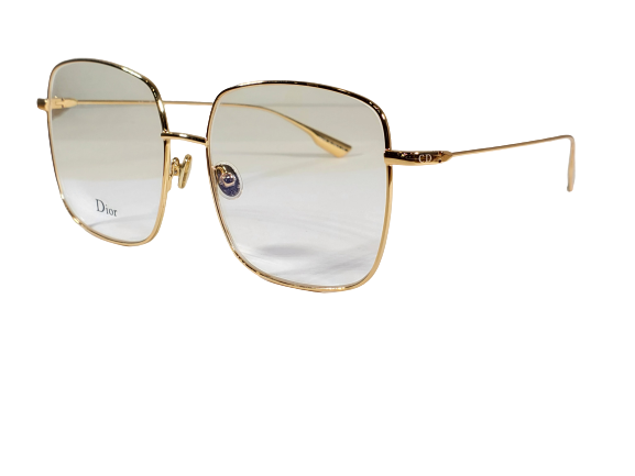 Christian Dior Stellaire 1 | Gold and Clear Lens Eyeglasses - Beautifully Stunning Must-Have Gold Glasses With Clear Lens